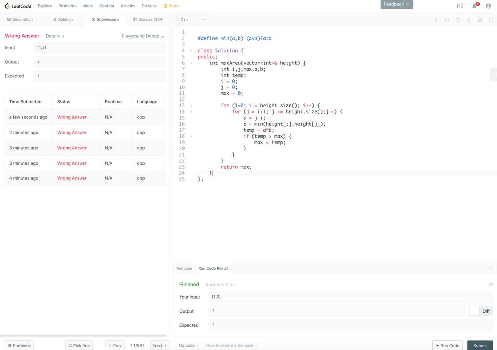 LeetCode interface